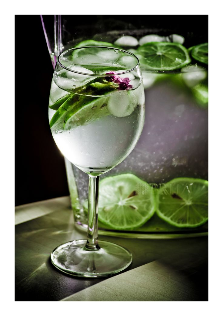 water & lemon