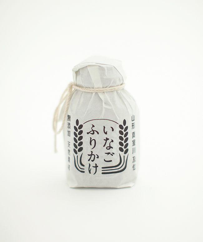 いなごふりかけ logo and packaging design. Art Deirection & Design: 小板橋基希 Motoki Koitabashi #packaging #logo