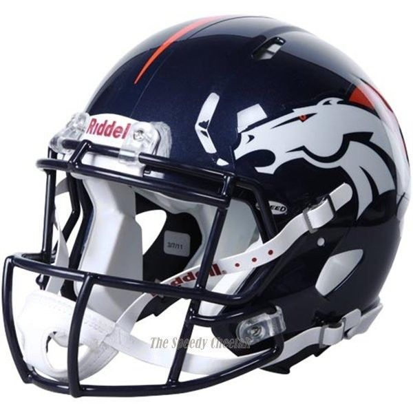 Broncos football helmet