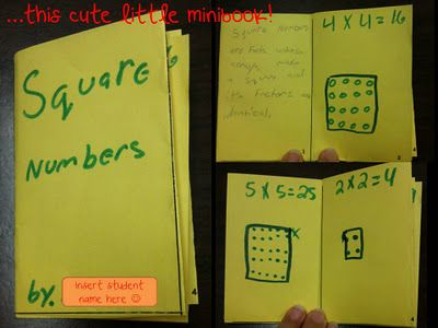 Teaching Blog Addict: Square Numbers and Daily 5--What Do They Have in Common??!?