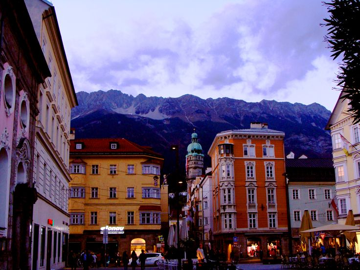 "Bruck comes from the same root as the modern German word ""Brücke"" meaning ""bridge"" which leads to ""the bridge over the Inn"". Innsbruck #Austria #tourist #beautifulcity"