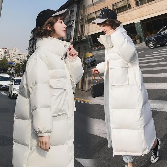 Hooded Long Winter Jacket Women Plus Size 5 Cotton Padded Coat Womens Parka Female Outwear Thick Warm Clothing 2018 Okd478 white 2
