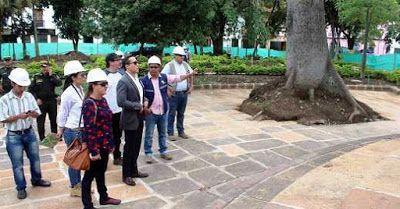 Santander hoy web: Inspección de obras al Parque La libertad realizó ...