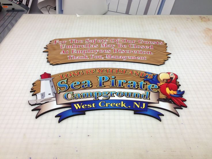 Coastal Sign & Design, LLC » Sea Pirate Campground Signs #coastalsign #exteriorsigns #campground #nj