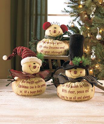 Handmade ornament idea - I love that you can write on the fabric to make it more personal