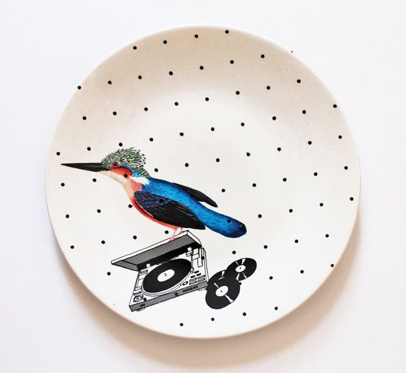 DJ Birdie plate by yvonneellen