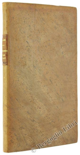 LETTRES A SERGIO SOLMI SUR LA PHILOSOPHIE DE KANT. Alain (Chartier Emile-Augiste) 1946 - Bergoglio Libri d'Epoca