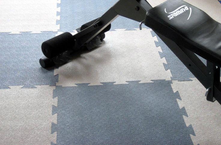 Home gym idea : colored interlocking rubber tiles