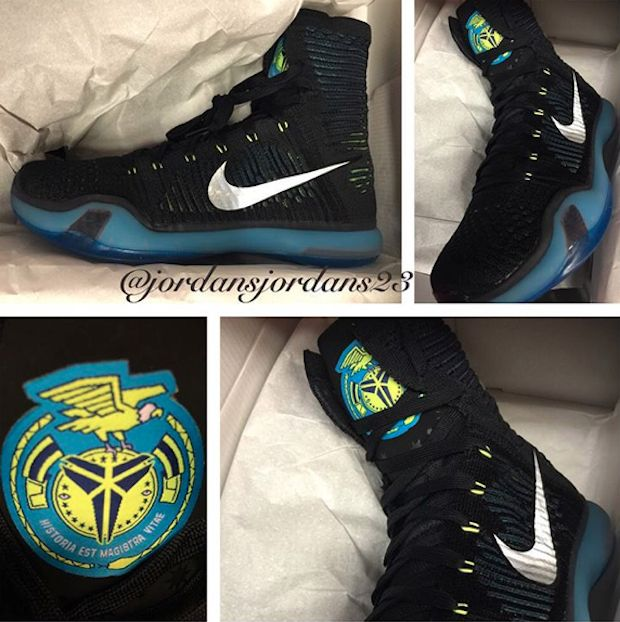 hot sale online eddfd df8ad Nike Kobe 10 Elite High Black Volt Blue   Shoe Biz   Pinterest   Kobe,  Sneaker bar and Kobe elite
