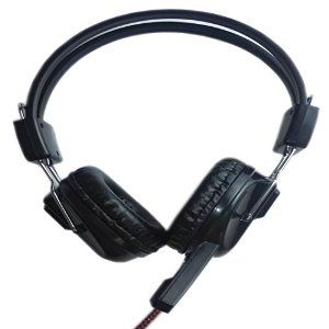 Faster Professional Stereo Headphone Headset with Microphone for Computer Pc Laptop Notebook Black