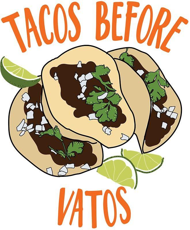 Tacos Before Vatos Sticker By Nataliazaragoza Wallpapers Vintage Mexico Wallpaper Taco Drawing