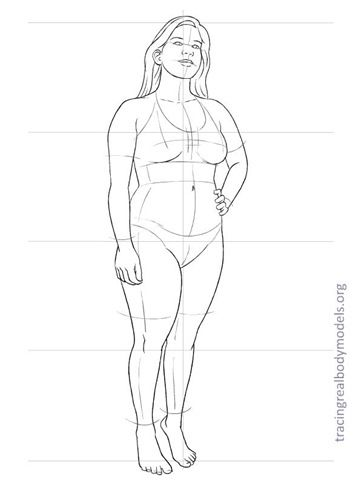 Tracing Real Body Models - 33 real life body croquis - free download
