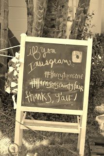 """Chalkboard 15$ at Ikea-used to """"if you instagram"""" at a county fair party @Carryn of all Trades"""