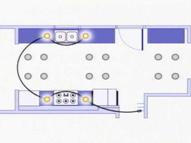 DIY Network explains how to rough-in wiring for multiple recessed ceiling light fixtures.