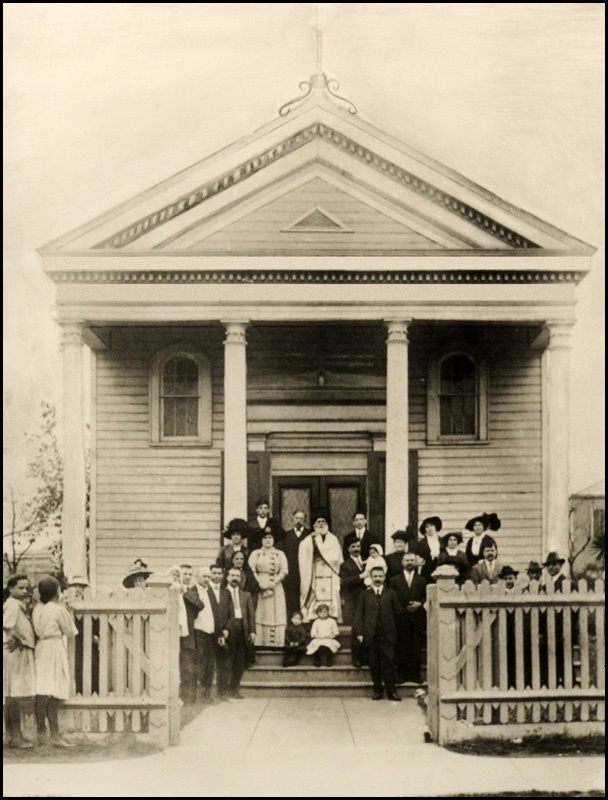 First Greek Orthodox Church built in the United States of America. New Orleans, 1864