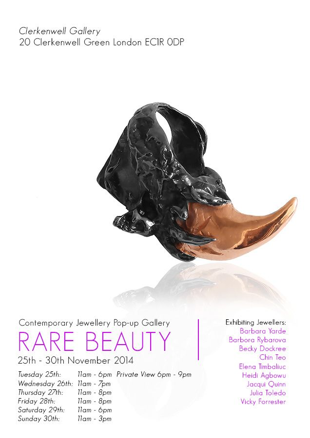 Rare Beauty. Distinctive jewellery, designed+made in London. | Flux Jewellery News, Exhibitions and Special Events