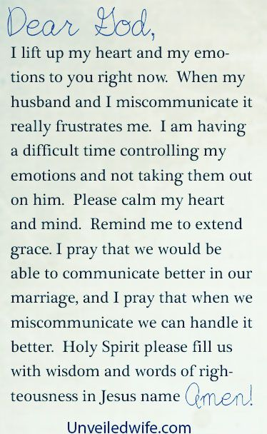 Prayer Of The Day – Miscommunication Leads To Frustration by @unveiledwife