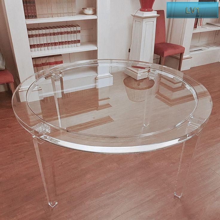 lucite acrylic dining table tavoli pranzo in plexiglas tavolo trasparente in plexiglas lv1 tondo