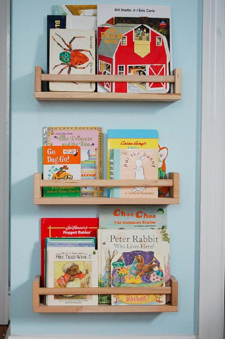 best book storage images on pinterest  home nursery and book  - top  diy kid's book storage ideas