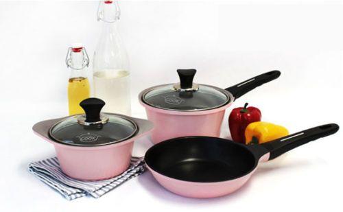 Little Cook Mini Pot Set , Frying Pan 5piece Cookware Kitchen Ceramic Coating