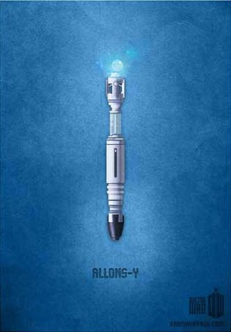 """<b>These minimalist Doctor Who posters by <a href="""""""" target=""""_blank"""">Karma Orange</a> conjure up beloved characters and moments from doctors 10 and 11 with a single image and a catchphrase.</b>"""
