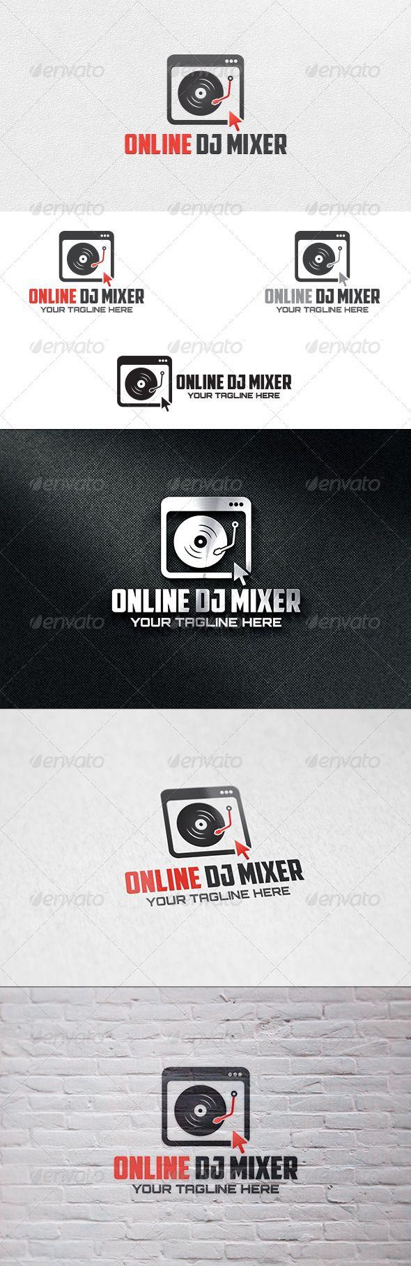 Online DJ Mixer  - Logo Design Template Vector #logotype Download it here: http://graphicriver.net/item/online-dj-mixer-logo-template/6776360?s_rank=965?ref=nexion