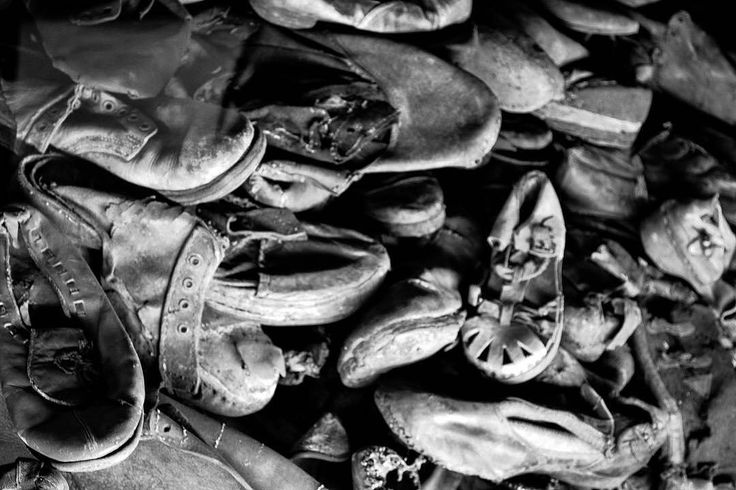 Auschwitz I. Block 5. Some of almost 80000 shoes that belonged to Auschwitz victims. --- Photo by @Regrann @j.c.streetgraphy ---