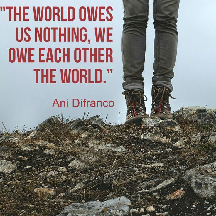 Quote of the Day. Ani Difranco