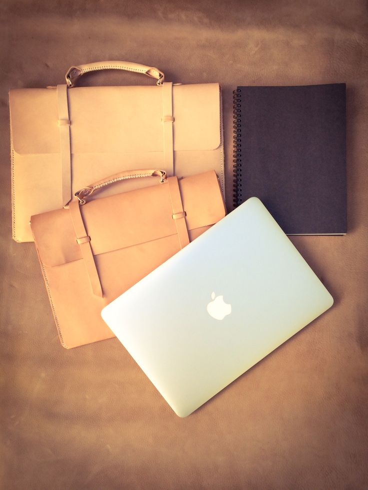 """Now with handles .. MacBook Air 11"""" & 13"""" leather satchels."""