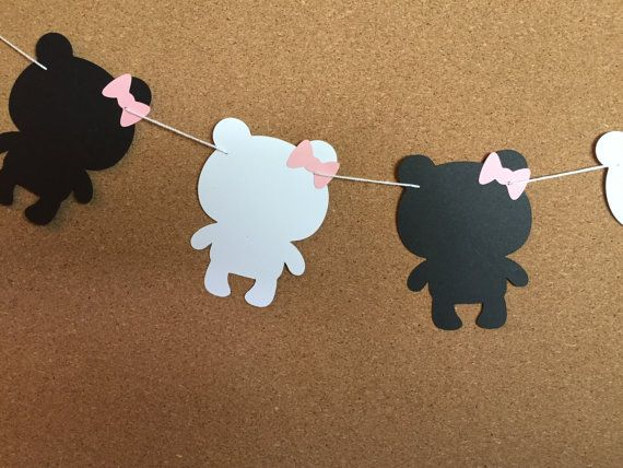 Oso panda guirnalda guirnalda de ducha de bebé osito por ScrapStarz