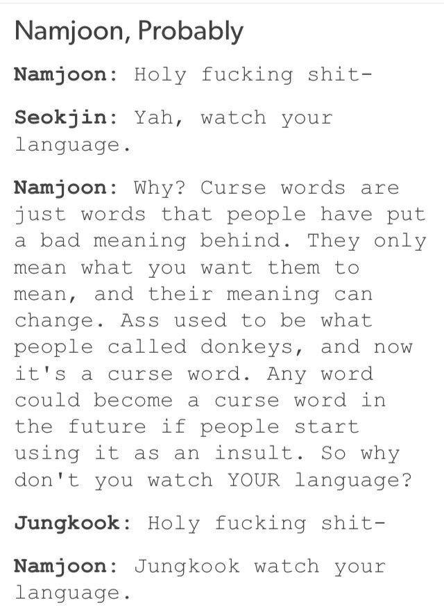 Gotta love Philosophical Namjoon