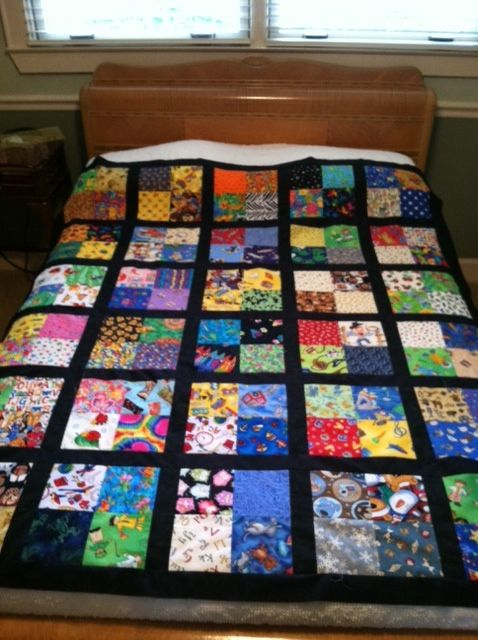 """I Spy"" Quilt that I made to keep at my house for the grands.  2012 DB"