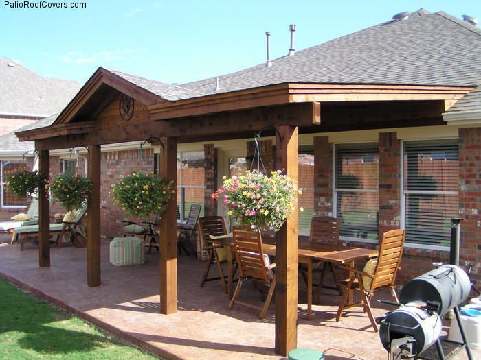 Patio cover roof extension backyard pinterest for Outdoor porches and patios