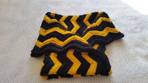 Crochet Baby Blanket Baby Blanket Steelers by CrochetbyKathie