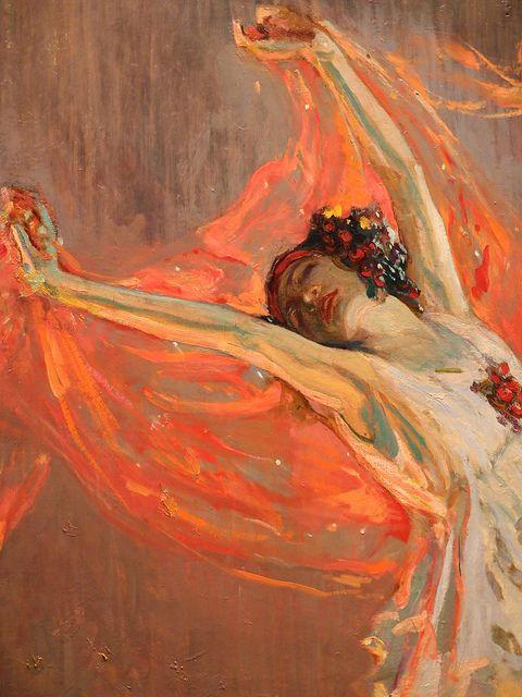 """Anna Pavlova"" by John Lavery, 1911, kelvingrove art gallery/museum, glasgow"