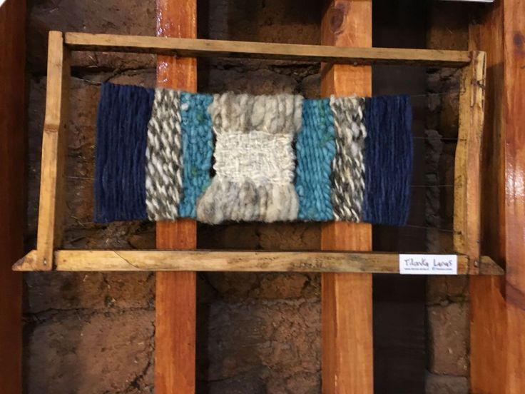 Decorativo en panal de abeja con 100% lanas. CLP 20.000 en Tilonka Lanas
