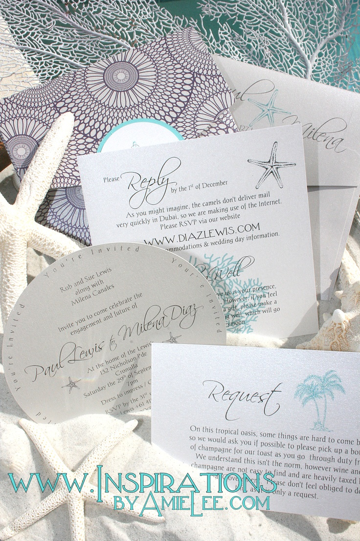 77 Best Beach Wedding Invitation Images On Pinterest Beach