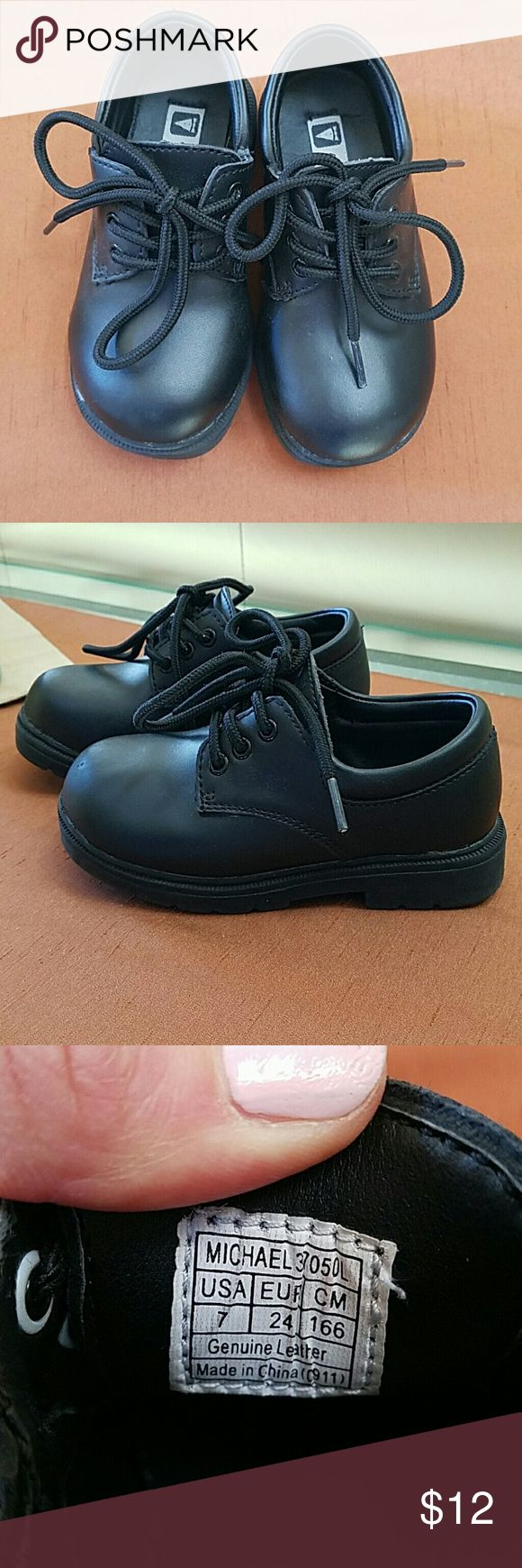 Little gents dress shoes My son wore these twice.  Excellent condition! little gents Shoes