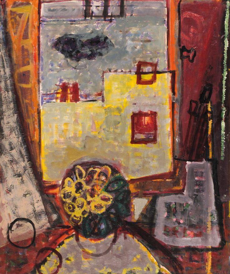 Lea Nikel – Interior of the Studio, 1951, Oil on canvas, 73x60 cm
