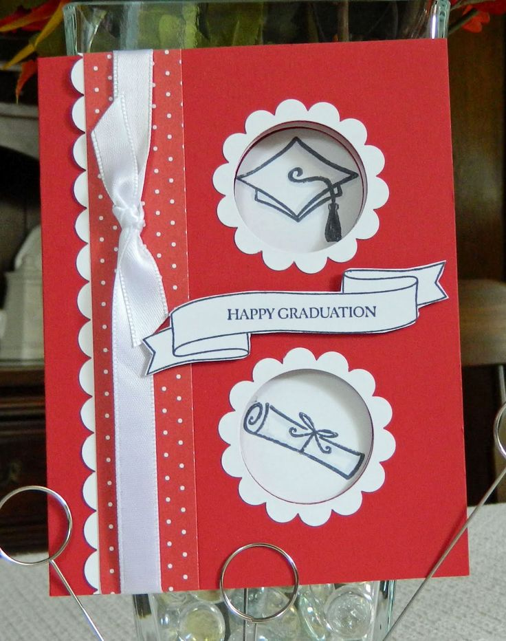 Rita's Little Corner: Double Peek a Boo Graduation Card