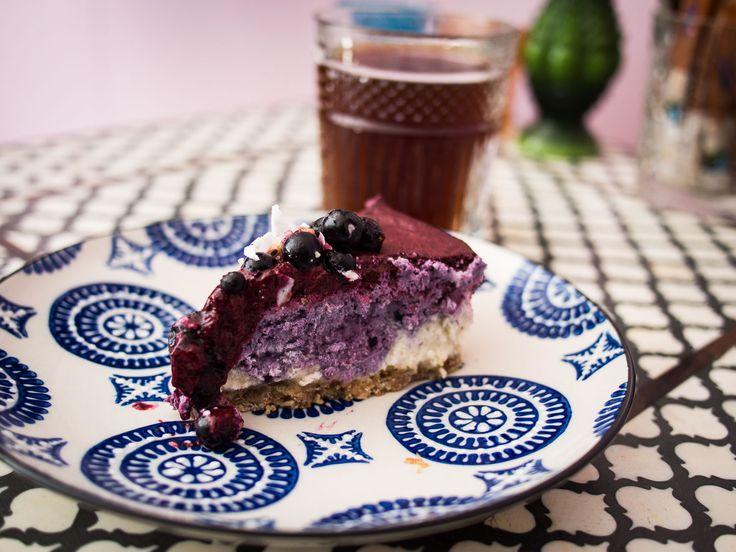 Aeropress coffee and raw cake at Cafe Kokko, Helsinki