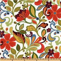 John Wolf by Richloom Solarium Wildwood Garden Bird/Floral-Indoor/Outdoor Fabric Fabrics ...