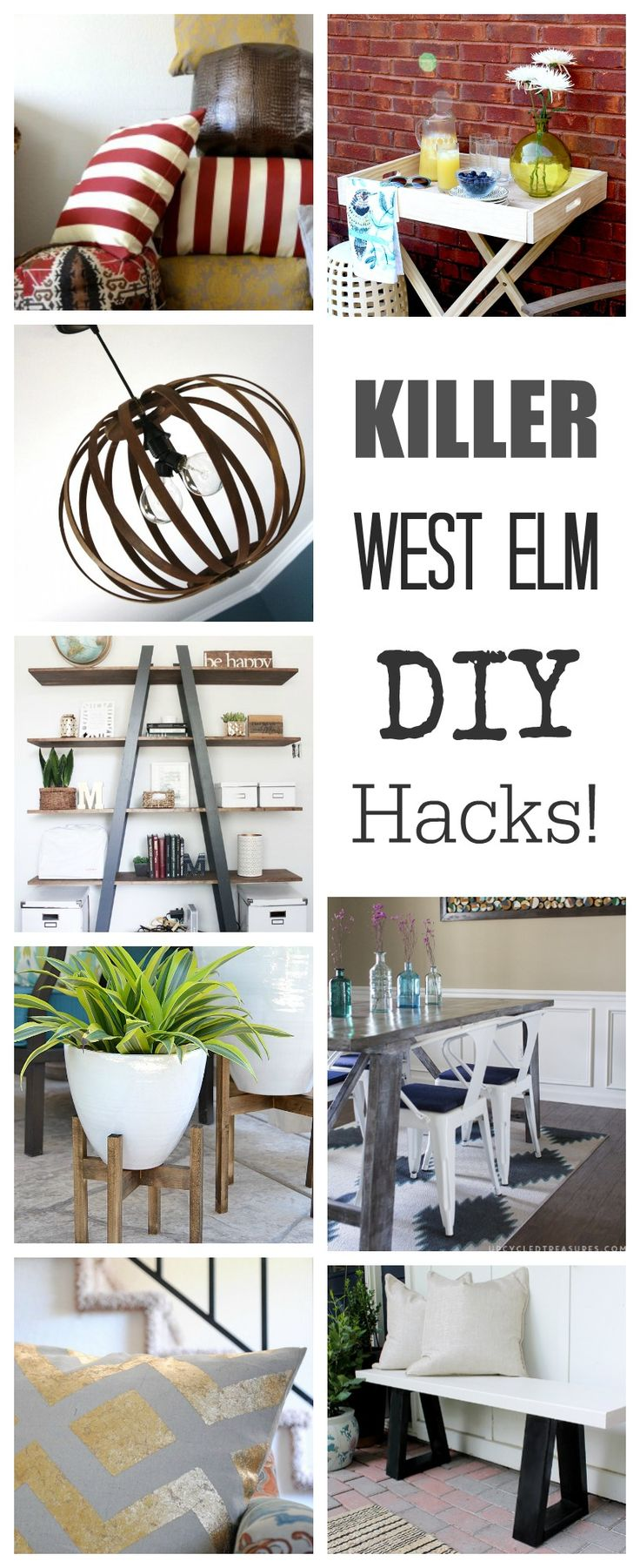Here are some of my favorite West Elm Hacks! Get the same look with lots of your home decor for so much less money by DIYing your own furniture, pillows, …