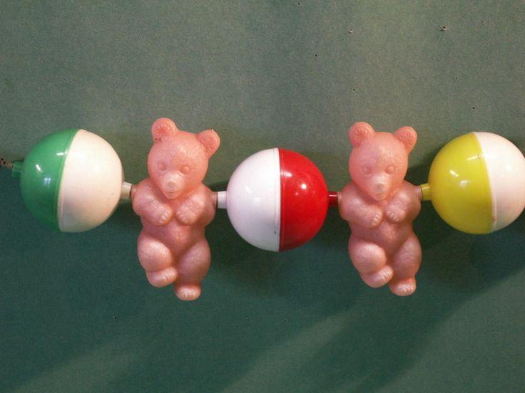 frühe DDR Spielzeug * Kinderrassel ~ Babyrassel * für Kinderwagen