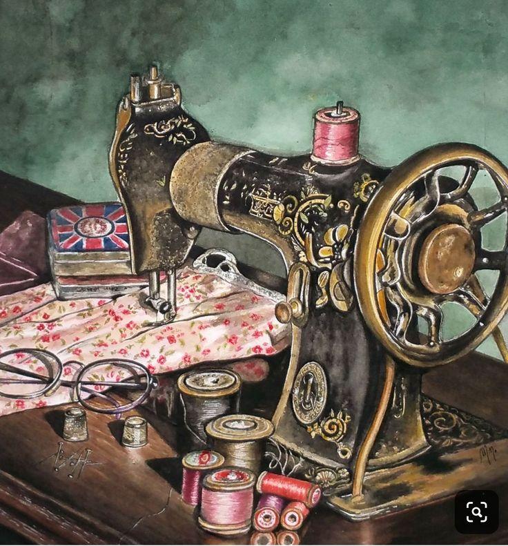 Рисунок книгу о тряпку швейная машина фото как