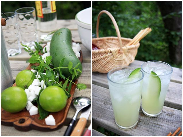 The Cuke cocktail recipe: Summer Cocktail, Foodie, Glass, Tasty Treats, Hot Weather, Weather Cocktail