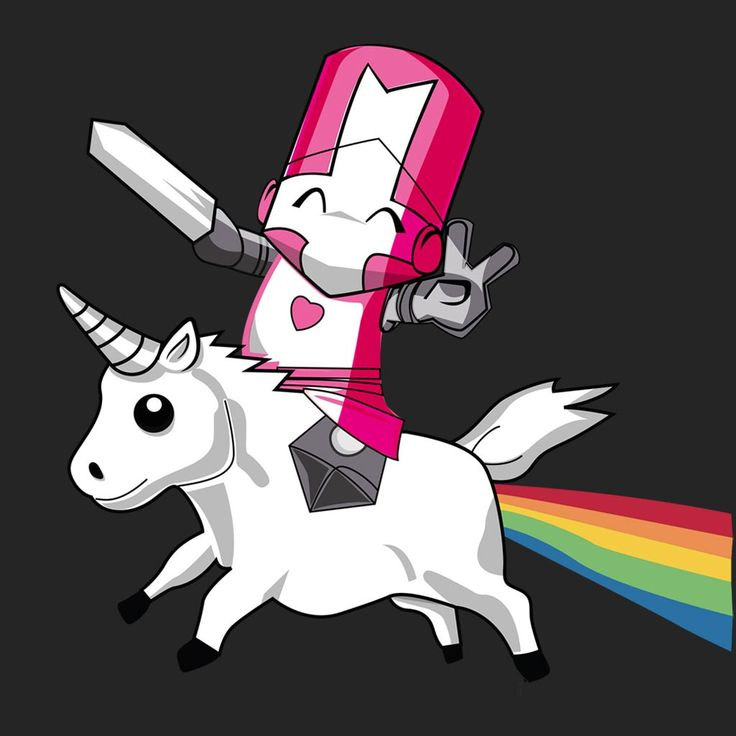 Castle Crashers Game Funny Parody; Pink Knight Unicorn.