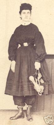 Skating ensemble, from the Civil War era.