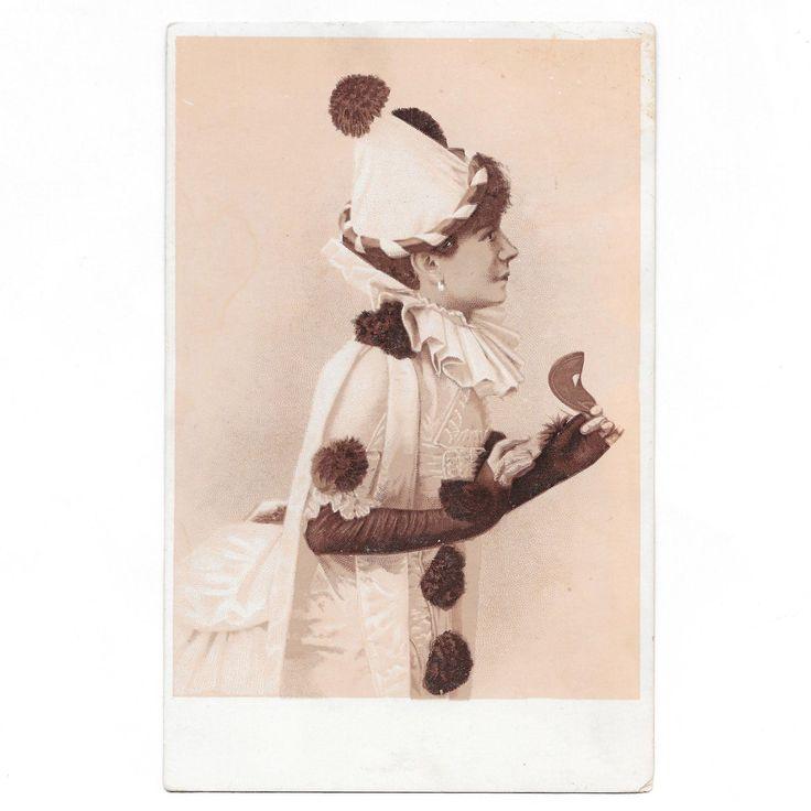 Large Female Clown Victorian Trade Card for Kenton Baking Powder