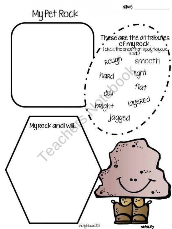 Teachers Notebook Pet Rock First Grade Writing Pinterest